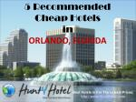 Orlando - 5 Recommended Cheap Hotels