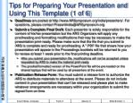 Tips for Preparing Your Presentation and Using This Template (1 of 6)