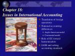 Chapter 18: Issues in International Accounting