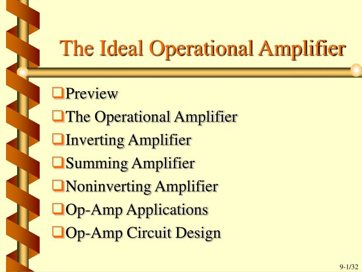 the ideal operational amplifier n.