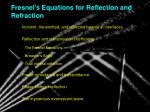 Fresnel's Equations for Reflection and Refraction