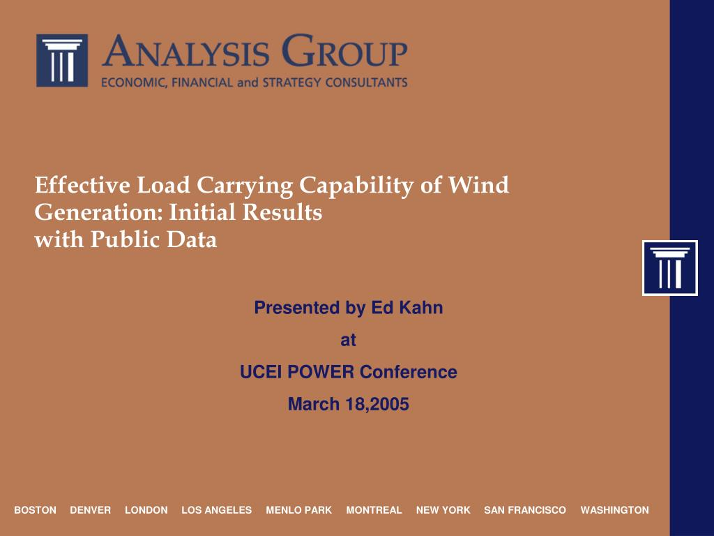 effective load carrying capability of wind generation initial results with public data l.