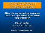 4th Asian Roundtable on Corporate Governance