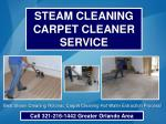 Steam Cleaning Rotovac Steem Carpet Cleaner 321-216-1442