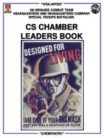 4th BRIGADE COMBAT TEAM HEADQUARTERS AND HEADQUARTERS COMPANY SPECIAL TROOPS BATTALION CS CHAMBER LEADERS BOOK