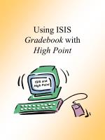 Using ISIS Gradebook  with High Point