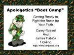 "Apologetics ""Boot Camp"""