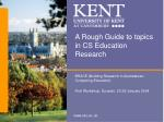 A Rough Guide to topics in CS Education Research