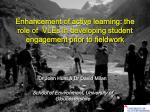 Enhancement of active learning: the role of VLEs in developing student engagement prior to fieldwork