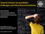 Towards Greater Accountability: Challenges and Policy Recommendations