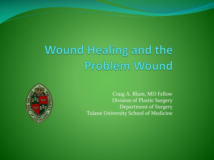 wound healing and the problem wound n.