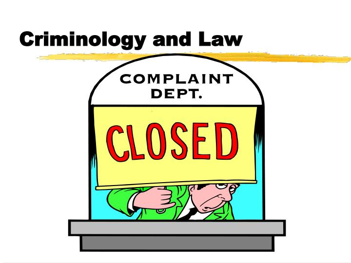 criminology and law n.