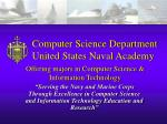 Computer Science Department United States Naval Academy