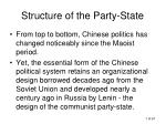 Structure of the Party-State