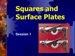 Squares and  Surface Plates