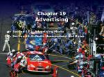 Chapter 19 Advertising