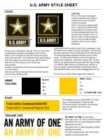 LOGO USE The U.S. Army logo should appear on the front and back of all collateral materials and in a prominent place on