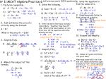 Yr 11 MCAT Algebra Practice 6  (all previous year's NCEA questions)