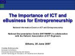 Costas Andropoulos European Commission,  Directorate-General Enterprise and Industry Unit D4: Technology for Innovation,