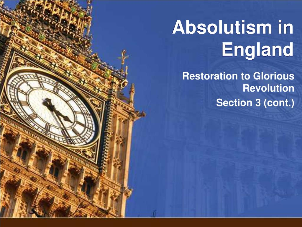absolutism in england l.