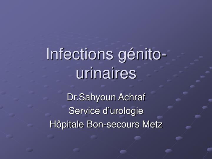 infections g nito urinaires n.