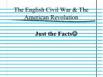 The English Civil War & The American Revolution