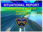 SITUATIONAL REPORT