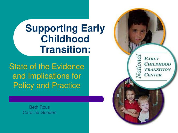 supporting early childhood transition n.
