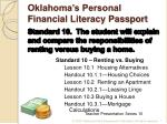 Oklahoma's Personal Financial Literacy Passport