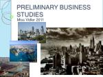 PRELIMINARY BUSINESS STUDIES