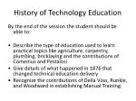 History of Technology Education