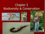 Chapter 5 Biodiversity & Conservation