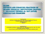 COMPILED BY HAMDAN HJ IDRIS, BSc Econs, MBA (Islamic Banking & Finance) Certified Professional Trainer (MIM) Industr