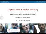 Digital Games & Search Future(s)