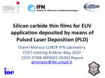 Silicon carbide thin films for EUV application deposited by means of Pulsed Laser Deposition (PLD)