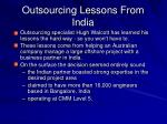 Outsourcing Lessons From India