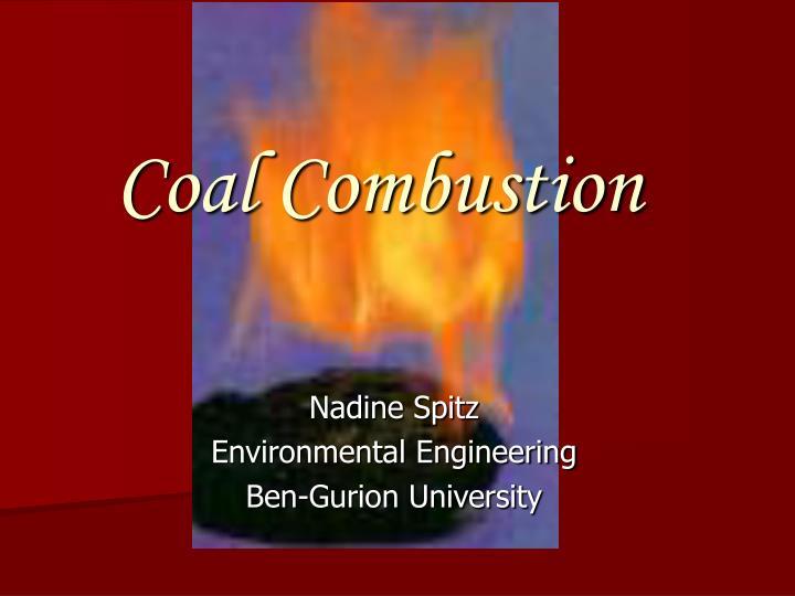 coal combustion n.