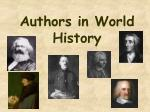 Authors in World History