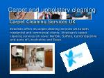 Carpet Cleaning Services UK