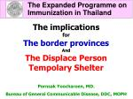 The Expanded Programme on 		Immunization in Thailand