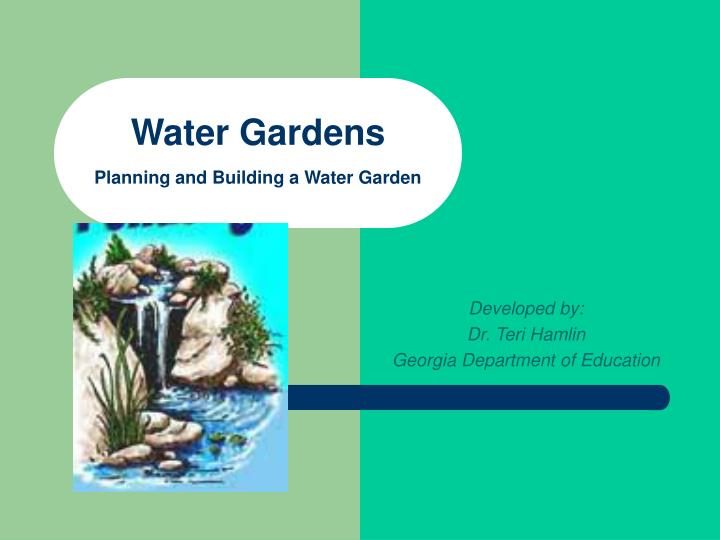 water gardens planning and building a water garden n.