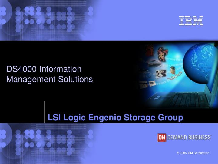 PPT - LSI Logic Engenio Storage Group PowerPoint
