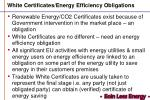White Certificates/Energy Efficiency Obligations