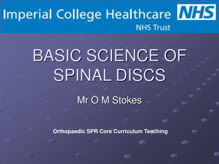basic science of spinal discs n.