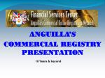 ANGUILLA'S  COMMERCIAL REGISTRY PRESENTATION