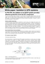 White paper:  Isolation in UPS systems