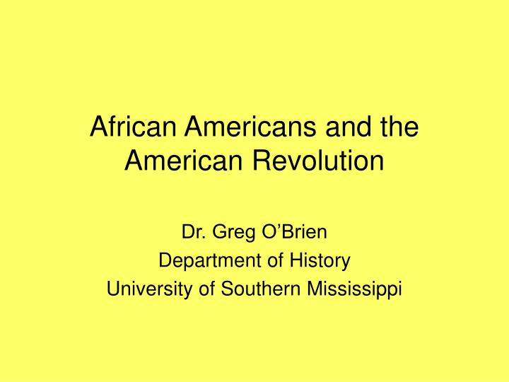 african americans and the american revolution n.