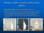 Ready made curtains and curtain poles UK