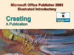 Microsoft Office Publisher 2003 Illustrated Introductory