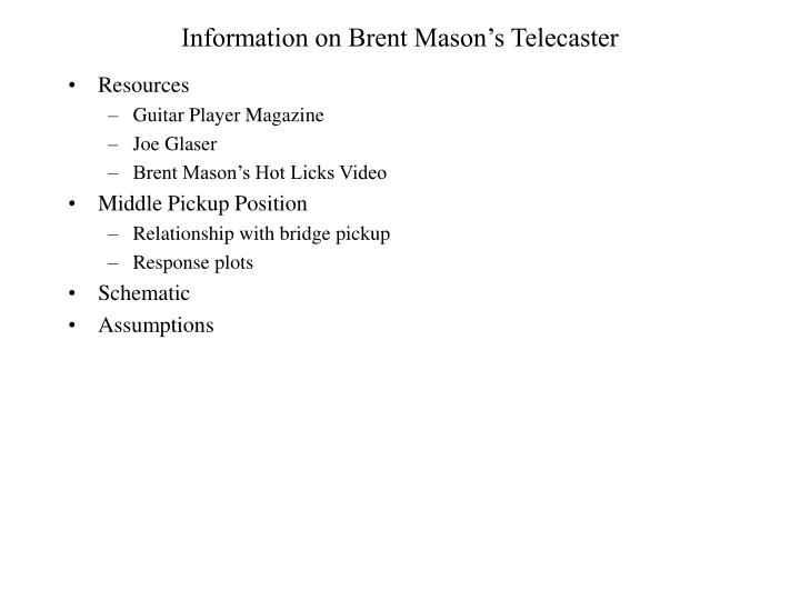 information on brent mason's telecaster - powerpoint ppt presentation